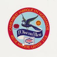 ETIQUETTE DE CAMEMBERT GAILLARD ET CHAUVEL/FERMIERS REUNIS 27 B OISEAU BLEU - Fromage