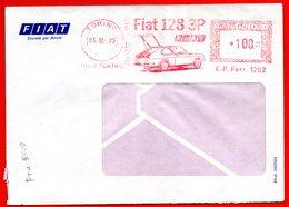 1975 AUTO FIAT 128 3P - BELLA METER STAMP EMA FREISTEMPEL AFFRANCATURA MECCANICA - Autos
