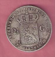 NEDERLAND 2 1/2 GULDEN 1852 WILLEM III RESTRIKE NOT ORIGINAL - [ 3] 1815-… : Royaume Des Pays-Bas