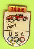 Pin's JO Jeux Olympiques 1992 Équipe USA Dodge Viper - 2N18 - Badges