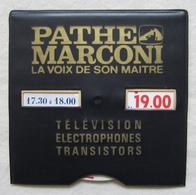 Disque De Stationnement Vintage Publicitaire PATHE MARCONI Vaucluse SORGUES Electric Radio Peytier - 1960s - Voitures