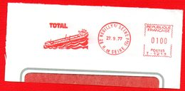 1977 PETROLIERA TOTAL - METER STAMP EMA FREISTEMPEL AFFRANCATURA MECCANICA - Erdöl