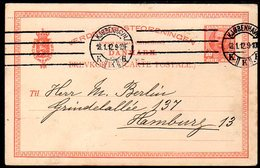 DENMARK 1912 Fredrik VIII Postcard 10 Øre Used.  Michel P136 - Enteros Postales