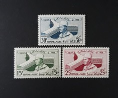 N° 386 à 388       Palais De L' UNESCO à Paris 1958  -  Neufs Sans Charnières - Morocco (1956-...)