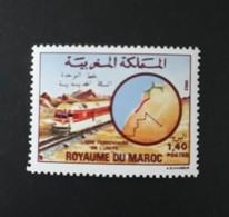 N° 804       Ligne Ferrovière De L' Unité  -  Neuf - Morocco (1956-...)