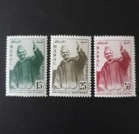 N° 374 à 376      Anniversaire De L' Indépendance  -  Mohammed V  -  Neufs Sans Charnières - Morocco (1956-...)