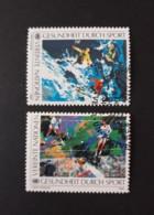 N° 85 Et 86      La Santé Par Le Sport  -  Ski Et Tennis - Oblitérés