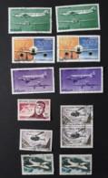 Lot De Poste Aérienne Et Croix-rouge Avec Oblitérations Choisies - Collections