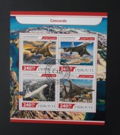 N° 1460 à 1463       Concorde  -  Oblitérés - Djibouti (1977-...)