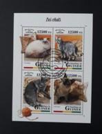 N° 9176 à 9179       Les Chats  -  Oblitérés - Guinea (1958-...)