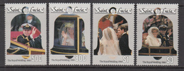 1986 St. Lucia Royal Wedding Andrew Complete Set Of 4  MNH - St.Lucia (1979-...)