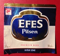 Beer Used Label- Efes Pilsen. Turkish Beer - Birra