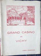 03 VICHY CASINO DE VICHY OPERA  PROGRAMME OFFICIEL 5 SEPTEMBRE 1937 CARMEN - Vichy