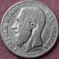 BELGIE LEOPOLD II  50 CENT   1868   KWALITEIT    2 SCANS - 1865-1909: Leopold II