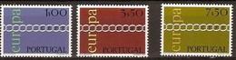 Cept 1971 Portugal Yvertn° 1107-09 *** MNH Cote 20 Euro - 1971