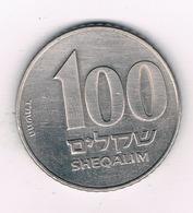 100 SHEQALIM  1984-1985 ISRAEL /4157/ - Israel
