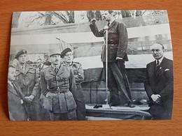 14/juin 1944 Général De GAULE Discours à BAYEUX Photo 14cm/12 Cm - 1939-45
