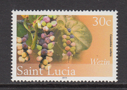 2013 St. Lucia Plants Fruits Complete Set Of 1  MNH - St.Lucia (1979-...)