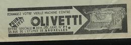 Belgique:  Préhistoire De L'informatique: Machines à écrire OLIVETTI  1937  - SONTTONE Pour Malentendant - Tabac - Informatique