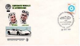 AUTO - ALFA ROMEO 158 SU TIMBRO 30° ANN. VITTORIA CAMPIONATO MONDIALE FORMULA 1 DI J.M. FANGIO - Automobile