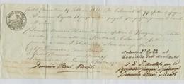 CAMBIALE EMESSA 19 FEBBRAIO 1851,CASTEL CLEMENTINO-SERVIGLIANO (ANCONA),BOLLO CAMBIARIO BAI 10, - Cambiali
