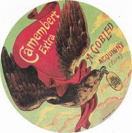 ETIQUETTE    DE  FROMAGE  NEUVE  CAMEMBERT GRANDE LAITERIE D'ACQUIGNY A. GOBLED EURE - Cheese