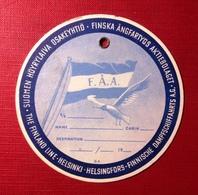 Cardboard Luggage  Tag- The Finland Line, FAA. Brand New - Barche