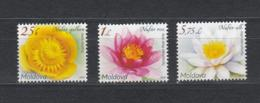 Moldova Moldawien MNH** 2019  Mi 1098-1100 Water Lily - Moldova
