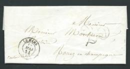 Lac , Lettre Cad Le Mans Mai 1854, 25 Double Trait -  Bpho2202 - 1849-1876: Période Classique