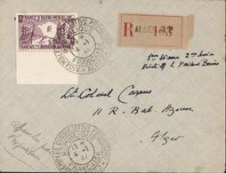 YT France Libre N°5 Recommandé Alger RP Seul S Lettre CAD Assemblée Consultative Provisoire Alger RF 19 * 4 1 44 - Algeria (1924-1962)