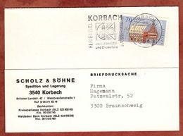 Karte, Europa Esslingen, MS Korbach, Nach Braunschweig 1983 (73854) - BRD