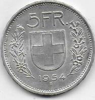 SUISSE - 5 Fr  1954 - Suisse