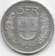 SUISSE - 5 Fr  1953 - Suisse