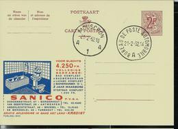 Publibel Obl. N° 1853  ( SANICO, Salle De Bains ) Obl. Mouscron A 1 A  21/02/62 - Publibels