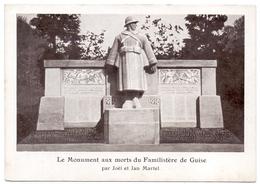 Aisne Guise  Monument Aux Morts Du Familistère - Guise