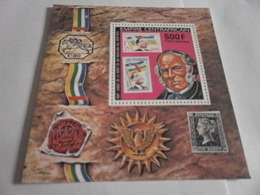 Miniature Sheet Perf 100 Years Of Sir Rowland Hill - Central African Republic