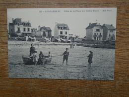 """"""" édition Cartes D'autrefois """" Concarneau ,  Villas De La Plage Des Sables-blancs """""""" Carte Animée Enfants Jouant """""""" - Concarneau"""