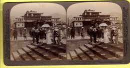 Stereoview - Lady Cuzon & Maharaja Of Cashmere, Leaving Museum - Underwood & Underwood - Stereoscopes - Side-by-side Viewers