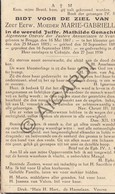Doodsprentje Zuster/Soeur Marie-Gabrielle / Mathilde Genachte °1867 Brugge †1936 Koksijde  (B204) - Obituary Notices