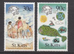 1999 St. Kitts  UPU Maps  Complete Set Of 2 MNH - St.Kitts En Nevis ( 1983-...)