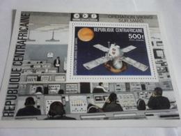 Miniature Sheet Perf Viking Mars Exploration - Central African Republic