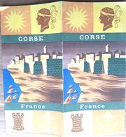 CORSE  DEPLIANT TOURISTIQUE AVEC BELLES ILLUSTRATIONS - Tourisme