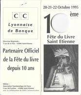 MÉDAILLE L'ÉCU DE SAINT ETIENNE 42 LOIRE 3 ÉCUS  PUBLICITÉ FÊTE DU LIVRE 1995 CIC - Touristiques