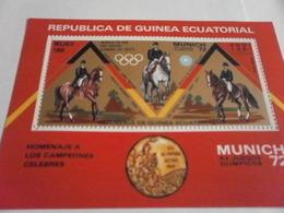 Miniature Sheet Perf Munich 72 Equestrian - Equatorial Guinea