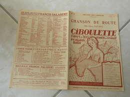 Chanson De Route (l'opérette Ciboulette)-(Paroles )-(Musique Reynaldo Hahn)Partition 1923 - Opera