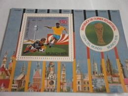 Miniature Sheet Perf World Cup Football 1974 Munich - Equatorial Guinea