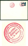 Croatia 1942 NDH Judaic Exhibition 'Jewess' - Jewess Anti Propaganda Zagreb Commemorative Cancel - Croatia