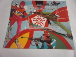 Miniature Sheet Perf Calgary 1988 Winter Olympics - Guinea (1958-...)
