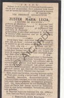 Doodsprentje Zuster/Soeur Maria Lucia / Justina De Wachter °1855 Malderen †1926 Boechout (B209) - Obituary Notices