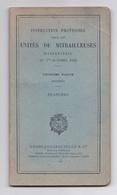 Instruction Provisoire Pour Les Unités De Mitrailleuses D'infanterie Du 1er Octobre 1920. 3e Partie, Matériel, Planches - Livres